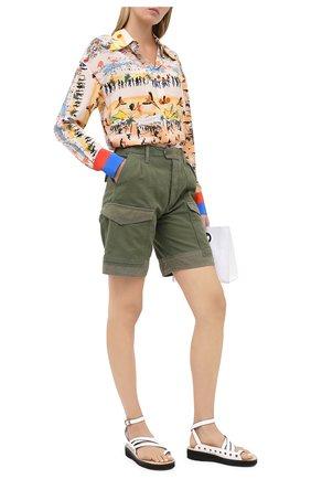 Женские шорты из хлопка и льна CITIZENS OF HUMANITY хаки цвета, арт. 90001-1199 | Фото 2