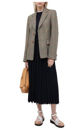 Женский пуловер из кашемира и шелка LORO PIANA темно-синего цвета, арт. FAI8995   Фото 2 (Материал внешний: Шерсть, Шелк, Кашемир; Длина (для топов): Стандартные; Кросс-КТ: с рукавом; Женское Кросс-КТ: Пуловер-одежда; Рукава: Короткие; Стили: Кэжуэл)