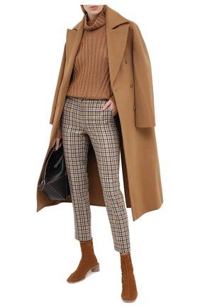 Женские брюки из кашемира и шерсти LORO PIANA бежевого цвета, арт. FAL4176 | Фото 2