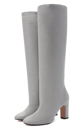 Женские кожаные сапоги KITON светло-серого цвета, арт. D50809X04T82 | Фото 1