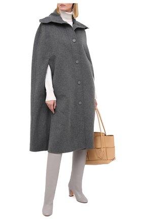 Женские кожаные сапоги KITON светло-серого цвета, арт. D50809X04T82 | Фото 2