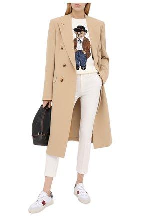 Женская хлопковый свитер POLO RALPH LAUREN кремвого цвета, арт. 211801543 | Фото 2