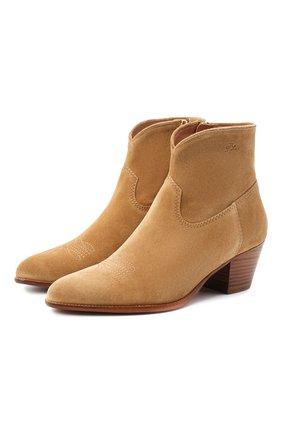 Женские замшевые ботинки POLO RALPH LAUREN коричневого цвета, арт. 818799174 | Фото 1