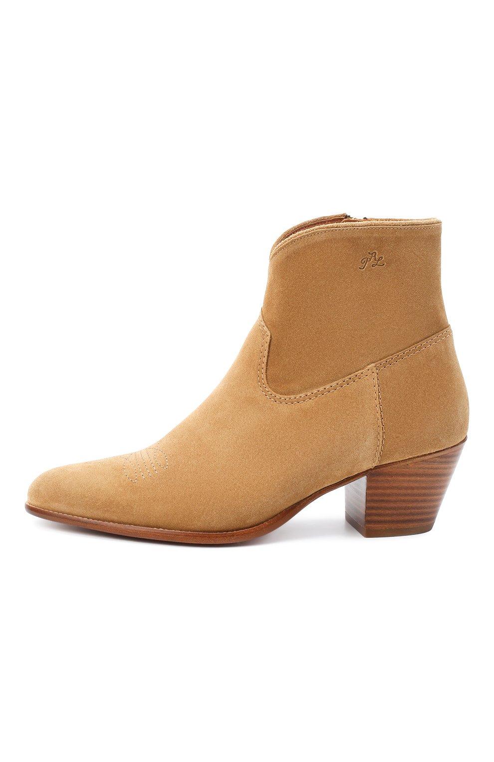 Женские замшевые ботинки POLO RALPH LAUREN коричневого цвета, арт. 818799174 | Фото 3