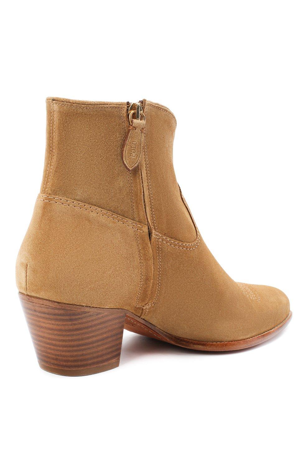 Женские замшевые ботинки POLO RALPH LAUREN коричневого цвета, арт. 818799174 | Фото 4