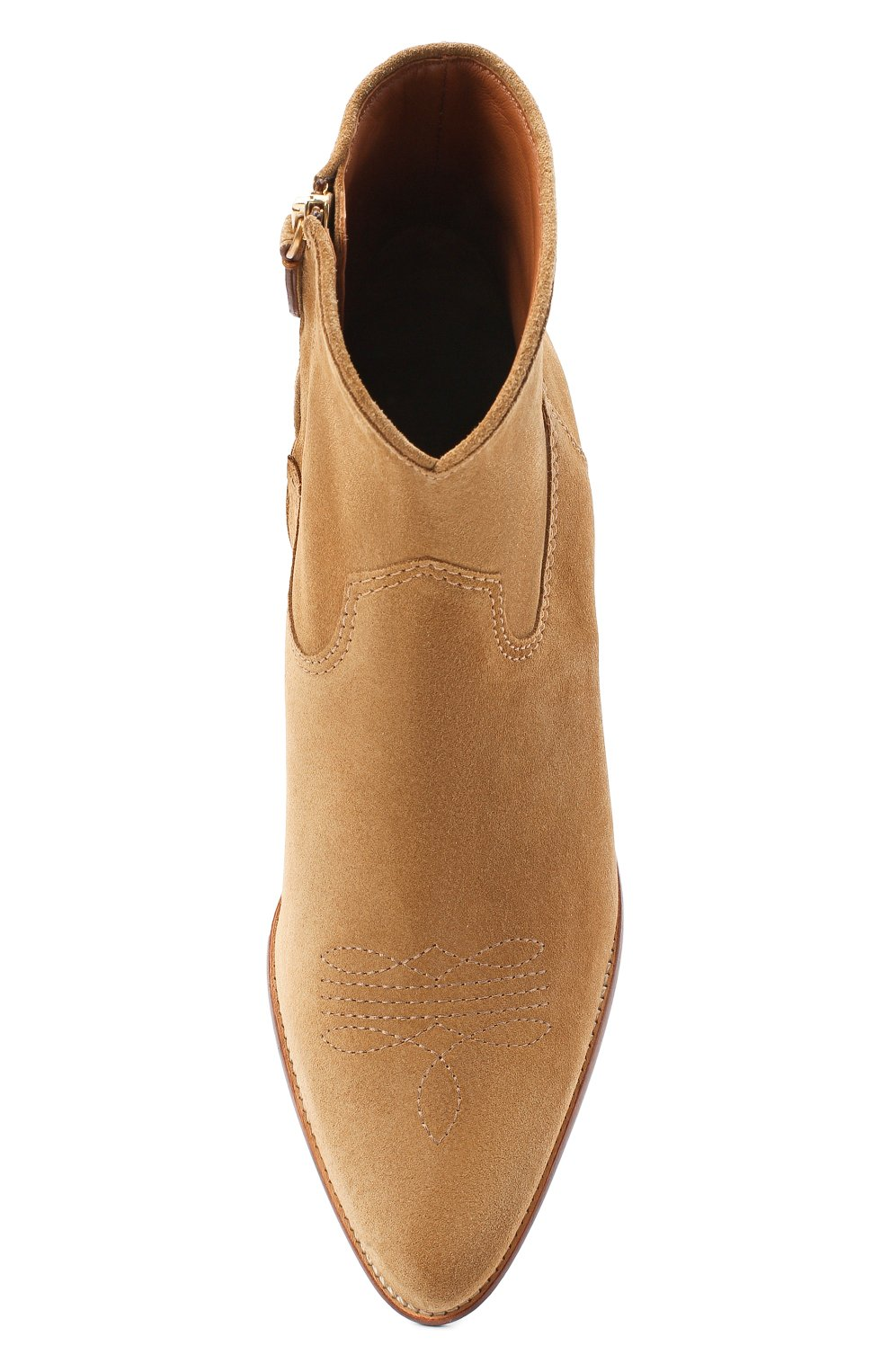 Женские замшевые ботинки POLO RALPH LAUREN коричневого цвета, арт. 818799174 | Фото 5