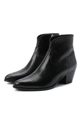 Женские кожаные ботинки POLO RALPH LAUREN черного цвета, арт. 818799180 | Фото 1