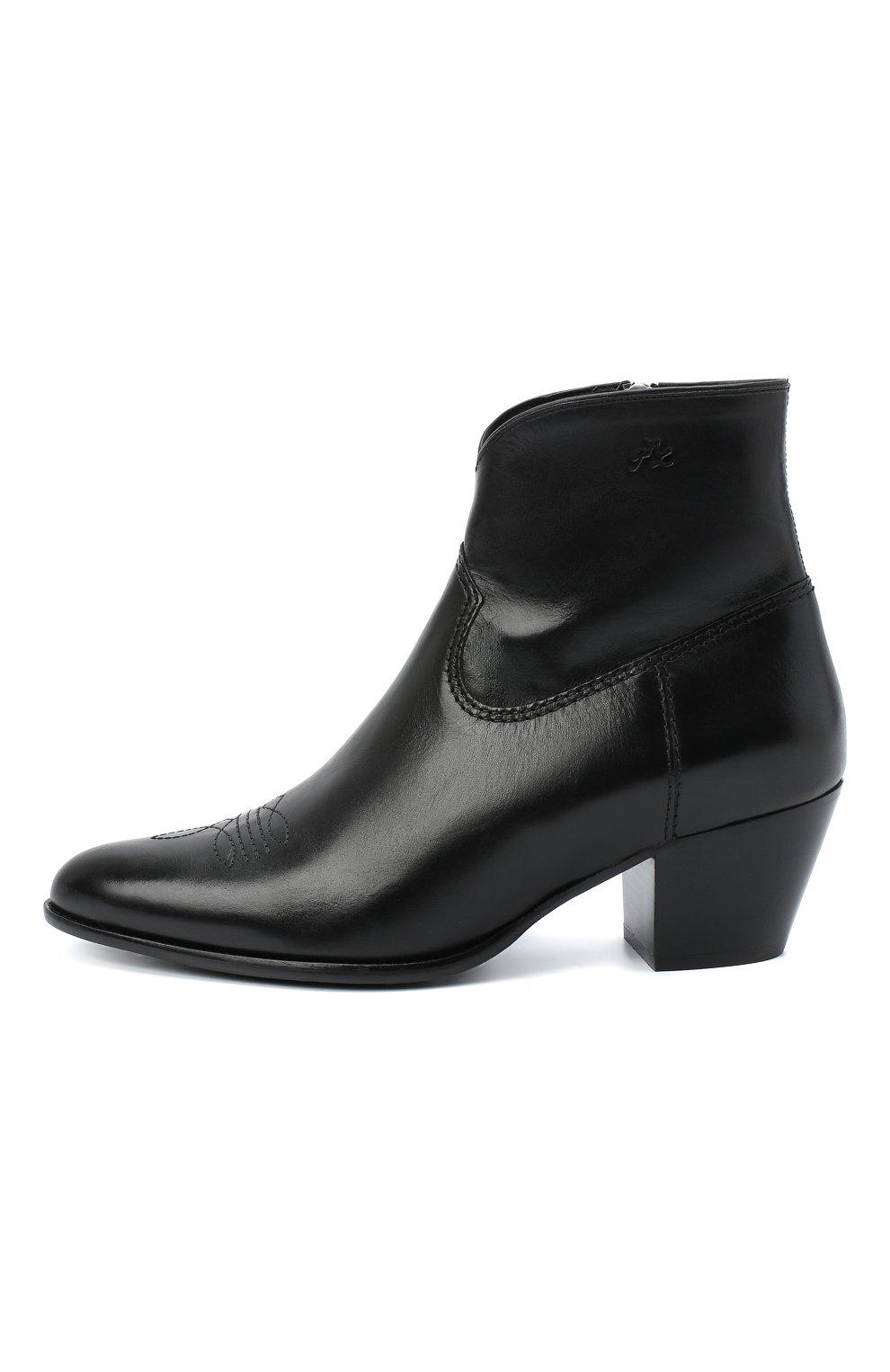 Женские кожаные ботинки POLO RALPH LAUREN черного цвета, арт. 818799180 | Фото 3