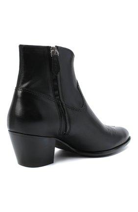 Женские кожаные ботинки POLO RALPH LAUREN черного цвета, арт. 818799180 | Фото 4