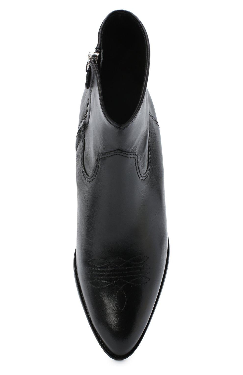 Женские кожаные ботинки POLO RALPH LAUREN черного цвета, арт. 818799180 | Фото 5