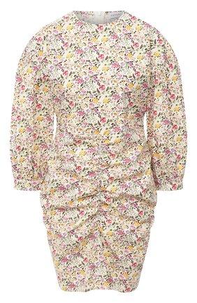 Женское хлопковое платье PEFORGIRLS желтого цвета, арт. PE.100.2012.06.16022.131 | Фото 1