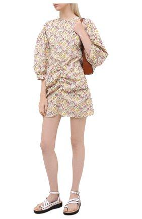 Женское хлопковое платье PEFORGIRLS желтого цвета, арт. PE.100.2012.06.16022.131 | Фото 2