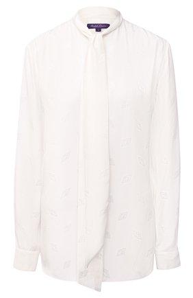 Женская блузка из вискозы и шелка RALPH LAUREN белого цвета, арт. 290815671 | Фото 1