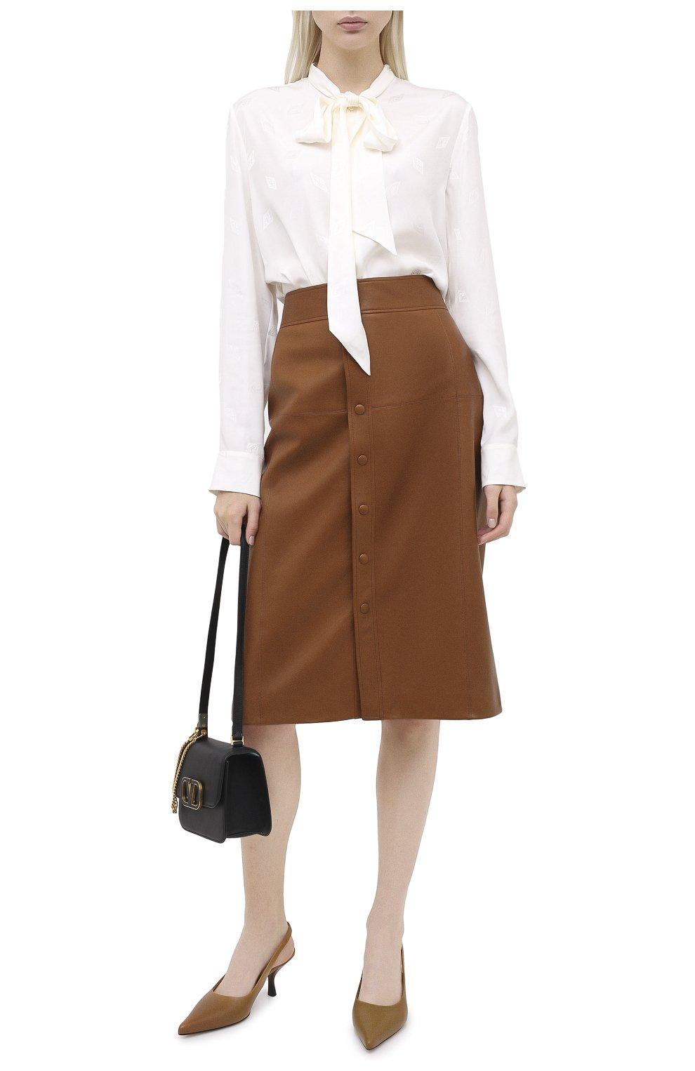 Женская блузка из вискозы и шелка RALPH LAUREN белого цвета, арт. 290815671 | Фото 2