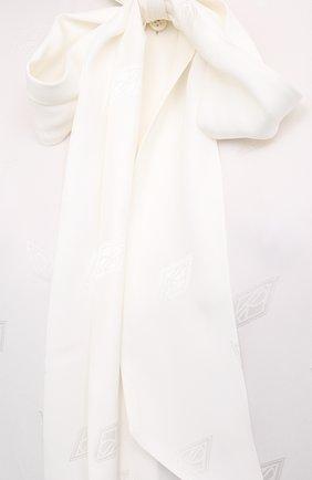 Женская блузка из вискозы и шелка RALPH LAUREN белого цвета, арт. 290815671 | Фото 5