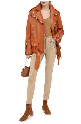 Женские хлопковые брюки RALPH LAUREN коричневого цвета, арт. 290815841 | Фото 2