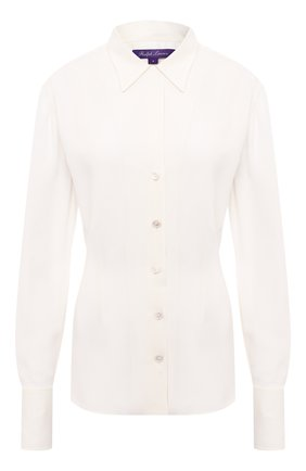 Женская шелковая рубашка RALPH LAUREN кремвого цвета, арт. 290815685 | Фото 1