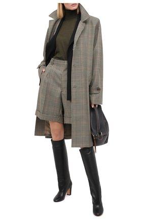 Женские кожаные сапоги KITON черного цвета, арт. D50809X04T82 | Фото 2 (Подошва: Плоская; Каблук тип: Устойчивый; Высота голенища: Средние; Материал внутренний: Натуральная кожа; Каблук высота: Высокий)