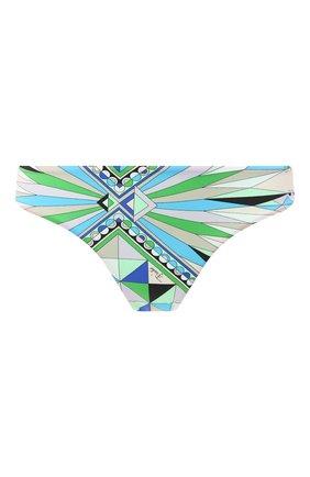 Женский плавки-бикини EMILIO PUCCI голубого цвета, арт. 0RMX30/0R797   Фото 1