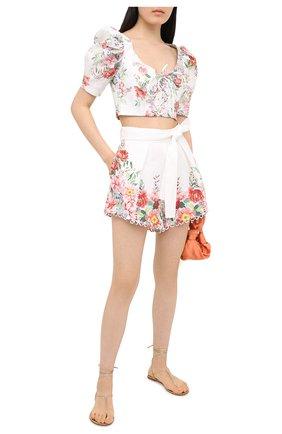 Женские льняные шорты ZIMMERMANN бежевого цвета, арт. 8206ABTD | Фото 2