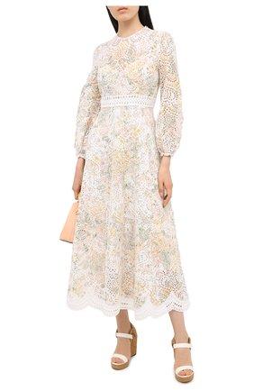 Женское льняное платье ZIMMERMANN бежевого цвета, арт. 8498DAME | Фото 2