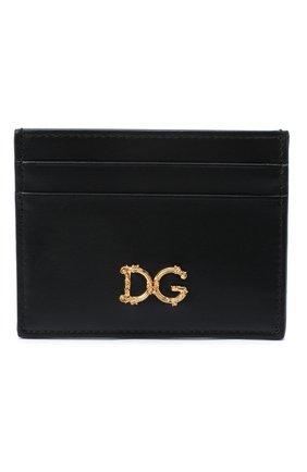 Женский кожаный футляр для кредитных карт DOLCE & GABBANA черного цвета, арт. BI0330/AX121 | Фото 1
