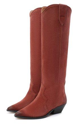 Женские замшевые сапоги ISABEL MARANT бордового цвета, арт. DENVEE/BT0072-20A004S   Фото 1