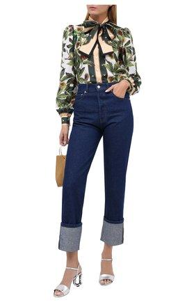Женские кожаные босоножки keira DOLCE & GABBANA серебряного цвета, арт. CR0738/AW121   Фото 2