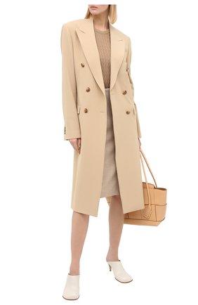 Женская шелковый пуловер DOLCE & GABBANA бежевого цвета, арт. FX904T/JASNV | Фото 2