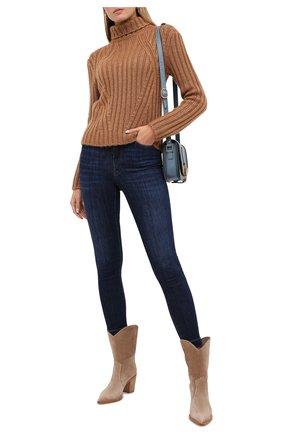 Женские джинсы DOLCE & GABBANA темно-синего цвета, арт. FTBXHD/G8CR6 | Фото 2