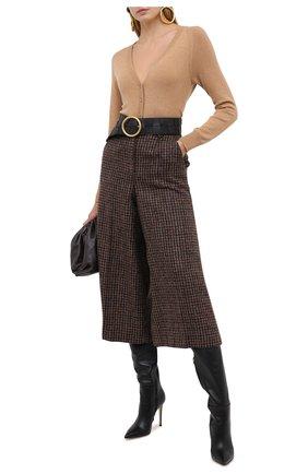 Женские шерстяные брюки DOLCE & GABBANA коричневого цвета, арт. FTBWFT/FQMH3 | Фото 2