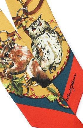 Мужские шелковый шарф DOLCE & GABBANA коричневого цвета, арт. FS215A/GDV98 | Фото 2