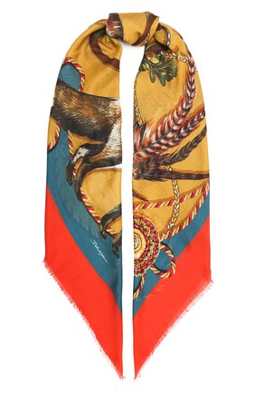 Женская шаль из шерсти и кашемира DOLCE & GABBANA коричневого цвета, арт. FS209A/GDW02 | Фото 1