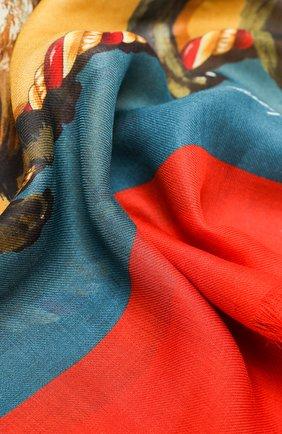 Женская шаль из шерсти и кашемира DOLCE & GABBANA коричневого цвета, арт. FS209A/GDW02 | Фото 2