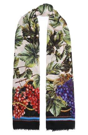 Женская шаль из шерсти и кашемира DOLCE & GABBANA разноцветного цвета, арт. FS184A/GDW06 | Фото 1