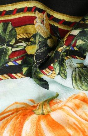Женская шаль из шерсти и кашемира DOLCE & GABBANA голубого цвета, арт. FS184A/GDV99 | Фото 2