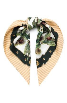 Женский шелковый платок DOLCE & GABBANA бежевого цвета, арт. FN093R/GDW04 | Фото 1