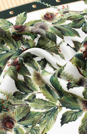 Женский шелковый платок DOLCE & GABBANA бежевого цвета, арт. FN093R/GDW04 | Фото 2