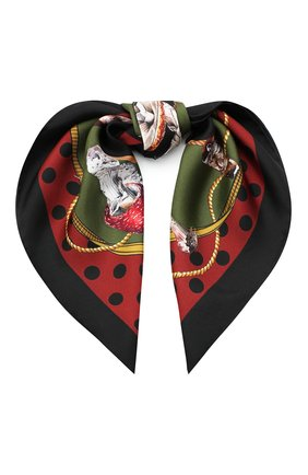 Женский шелковый платок DOLCE & GABBANA разноцветного цвета, арт. FN093R/GDW04 | Фото 1