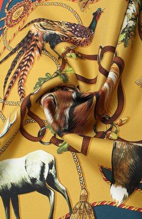 Женский шелковый платок DOLCE & GABBANA коричневого цвета, арт. FN093R/GDV97 | Фото 2