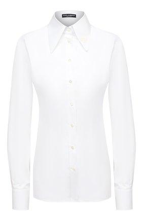 Женская хлопковая рубашка DOLCE & GABBANA белого цвета, арт. F5N65Z/GD0K6 | Фото 1