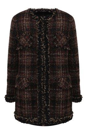 Женское пальто DOLCE & GABBANA коричневого цвета, арт. F26AKT/FQMHH | Фото 1