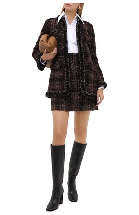 Женское пальто DOLCE & GABBANA коричневого цвета, арт. F26AKT/FQMHH | Фото 2