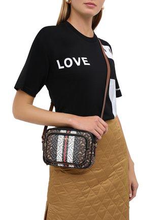 Женская сумка camera BURBERRY коричневого цвета, арт. 8021485 | Фото 2