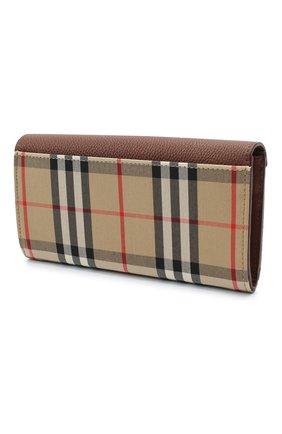 Женские кошелек BURBERRY коричневого цвета, арт. 8026112 | Фото 2