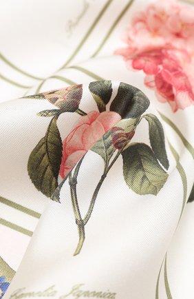 Мужские шелковый шарф BURBERRY бежевого цвета, арт. 8027853 | Фото 2