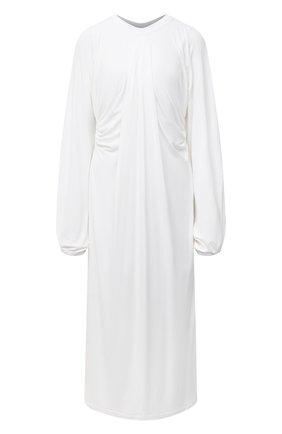 Женское платье из вискозы BURBERRY белого цвета, арт. 8030324 | Фото 1