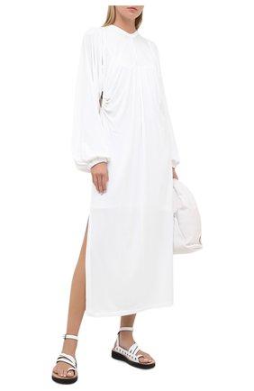 Женское платье из вискозы BURBERRY белого цвета, арт. 8030324 | Фото 2
