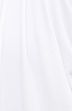 Женское платье из вискозы BURBERRY белого цвета, арт. 8030324 | Фото 5