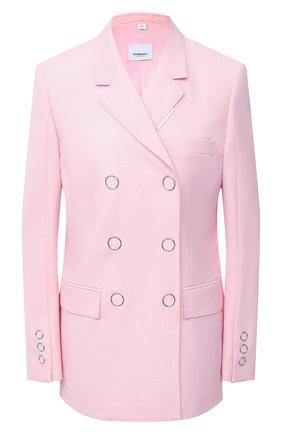Женский шерстяной жакет BURBERRY розового цвета, арт. 8030402 | Фото 1